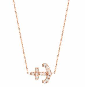 Mini Cz Anchor Necklace